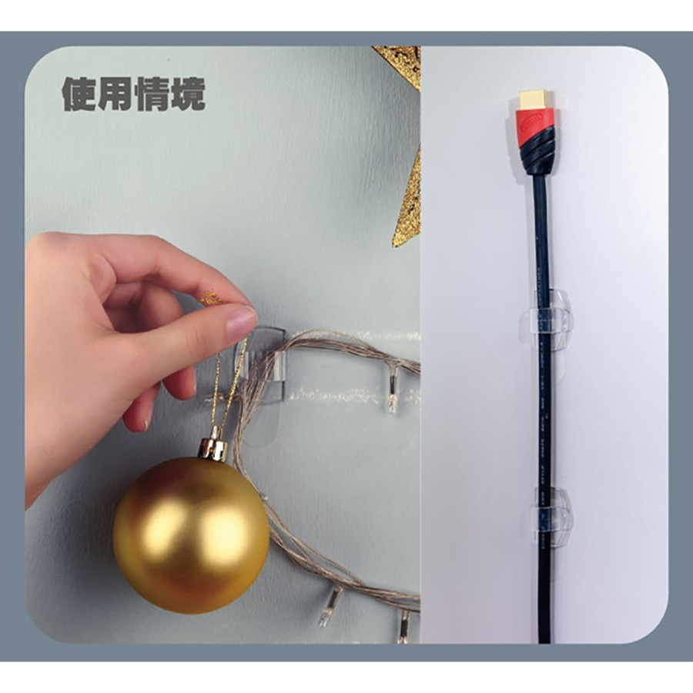 3M無痕透明電線掛鉤 /電線整理器17304  掛勾