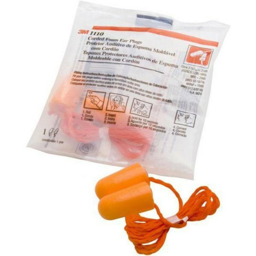 3M_0051138290092-3M 1110 防噪音有線耳塞 獨立包裝:海綿 衛生 安靜 寧靜 舒適