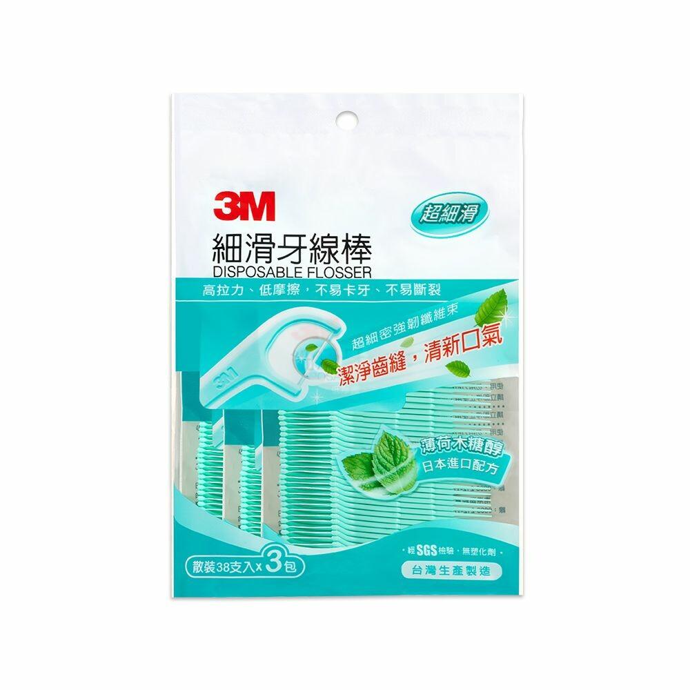 3M_0410069-1-1-3M細滑牙線棒_薄荷木糖醇 :散裝量販包114支(38*3包)