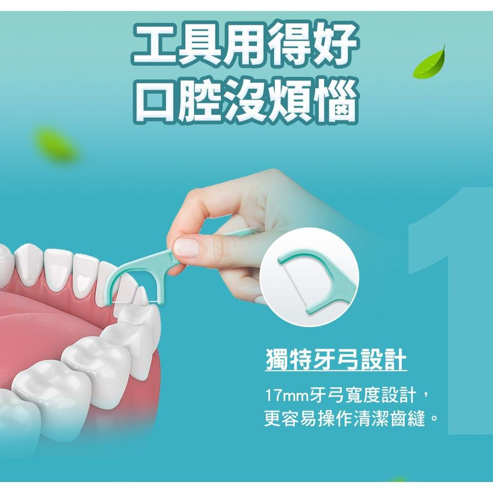 3M細滑牙線棒_薄荷木糖醇牙線棒 :單支包38支