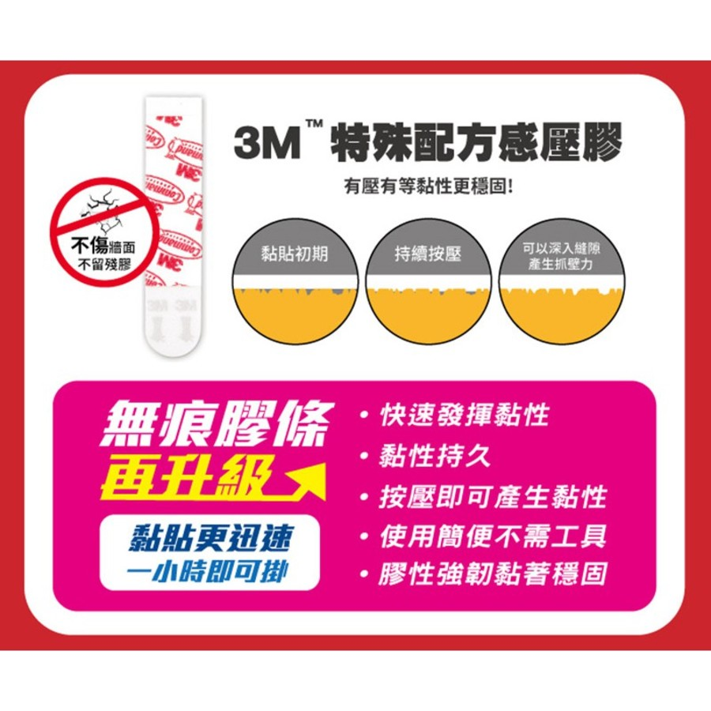 3M無痕一般掛鉤:中型一般27001 /小型一般27002