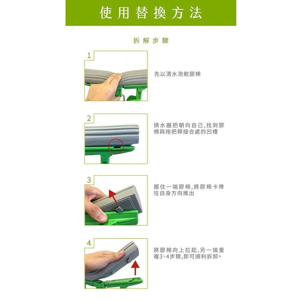 3M 免沾手膠棉拖把綠色補充包 (只能適用快潔免沾手)