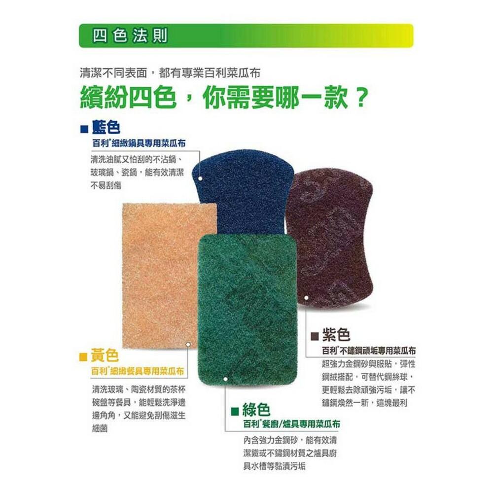 3M 爐具/鍋具專用海綿菜瓜布3片裝