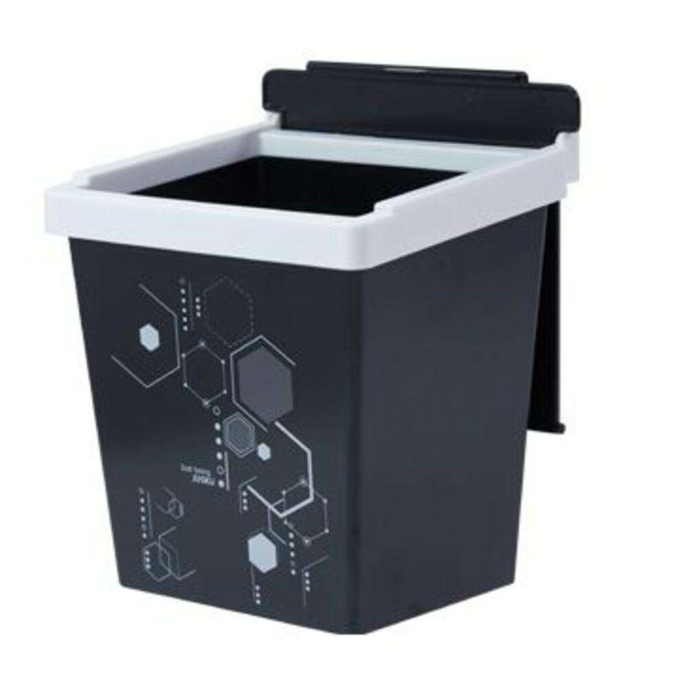 JUSKU-6801-方程式兩段掀蓋式垃圾桶(小)