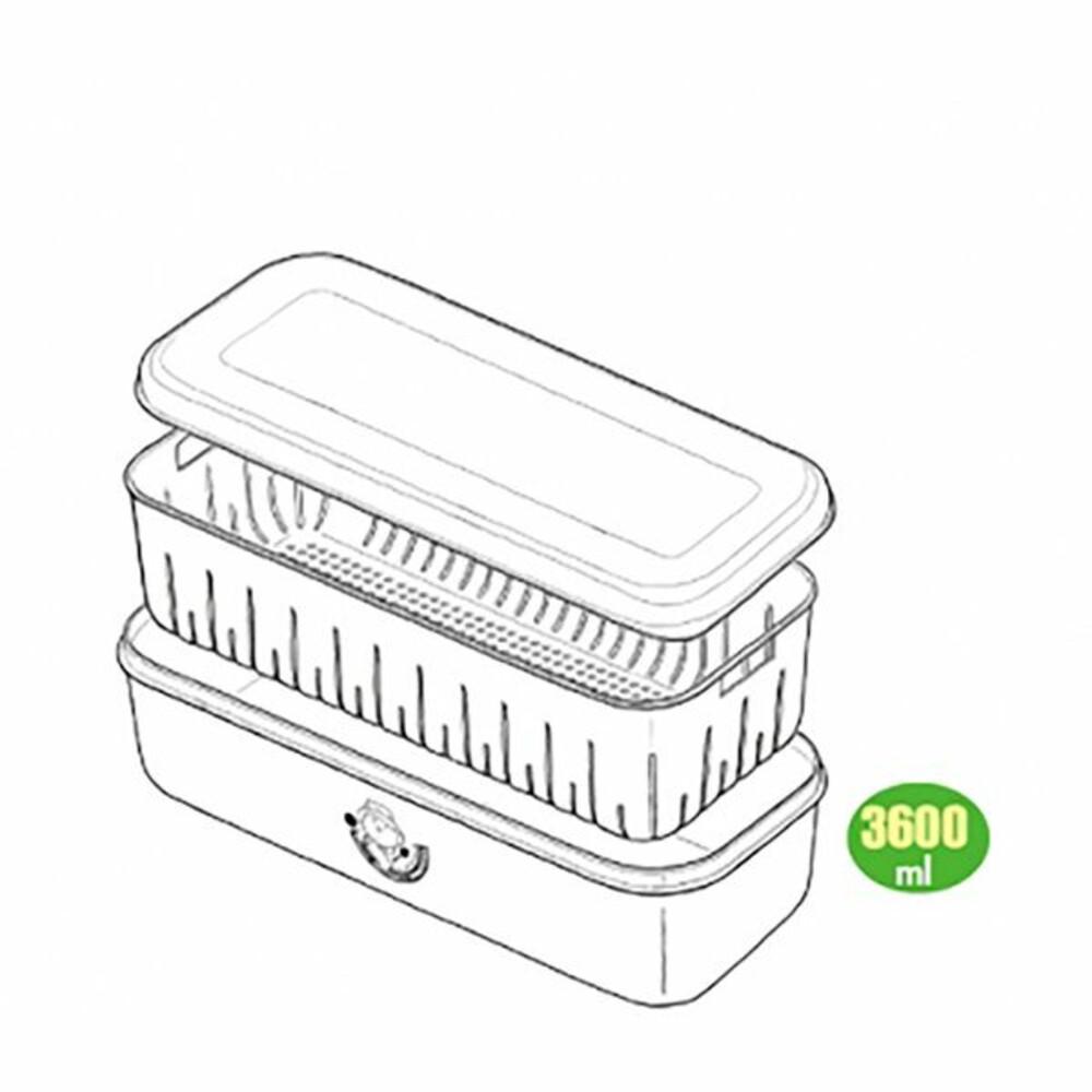甜媽媽#7濾水保鮮盒 7887