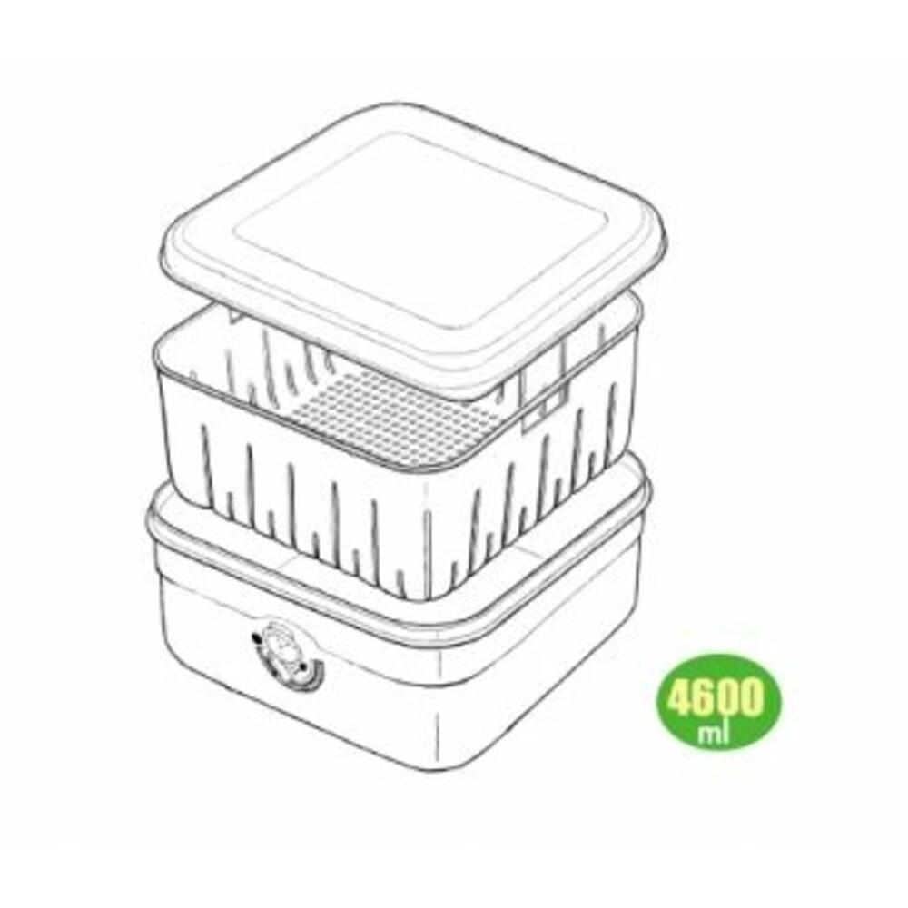 甜媽媽#9濾水保鮮盒 7889