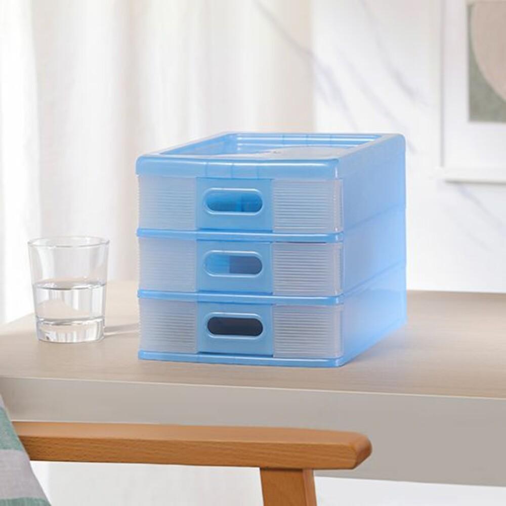 KEYWAY 學者收納盒(3小抽)AB-003