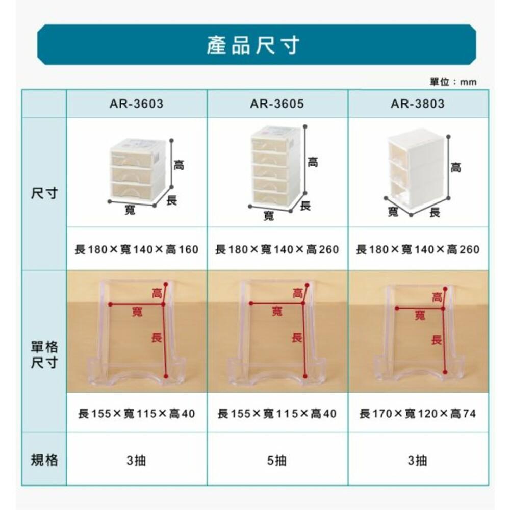聯府 彩集三層收納盒 AR3803