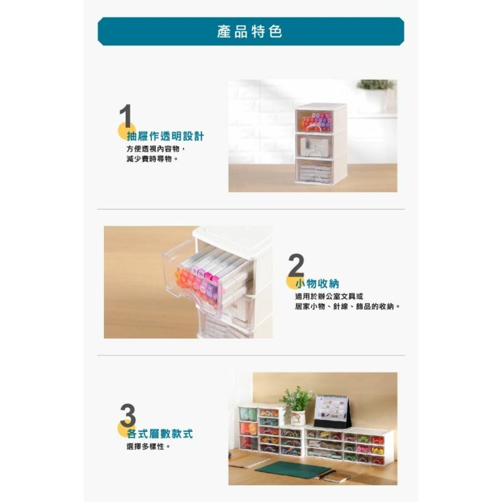 聯府 彩集綜合三層收納盒 AR-523 小物收納