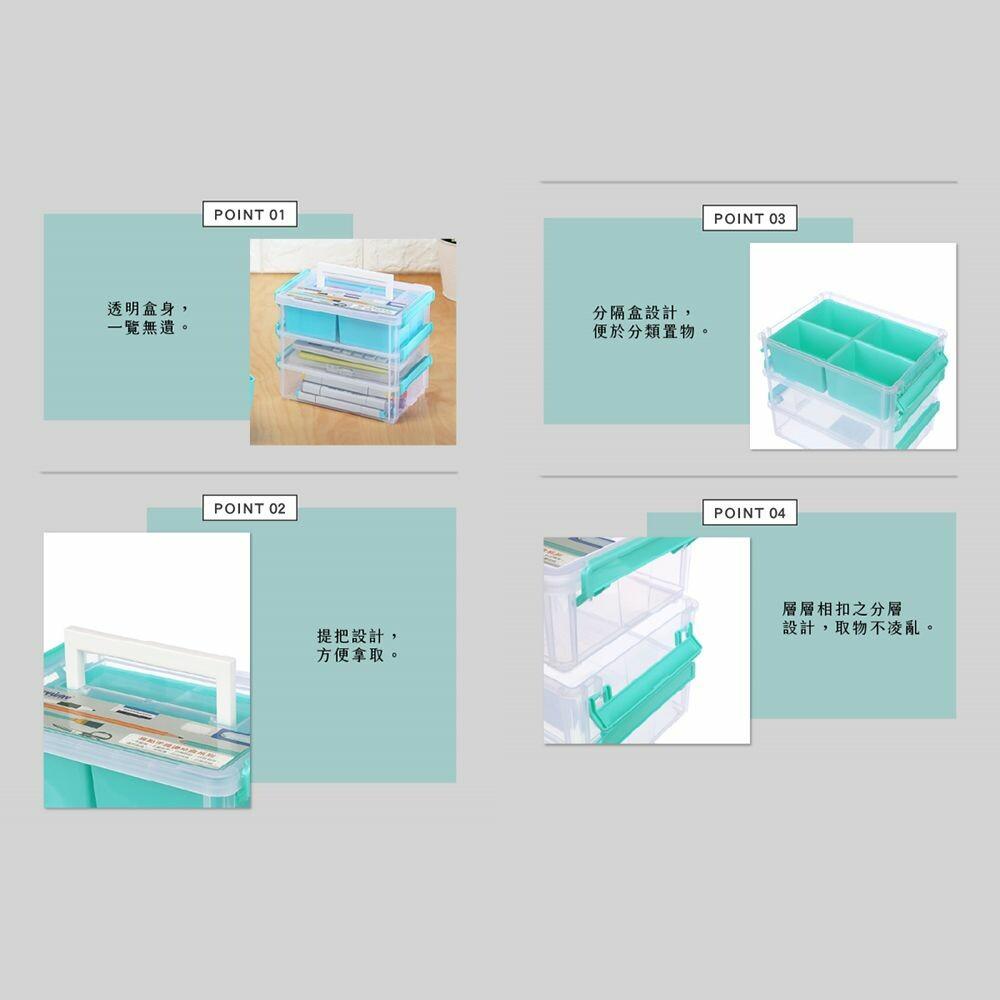 聯府 9號高點手提連結盒(3層T1) CC9031