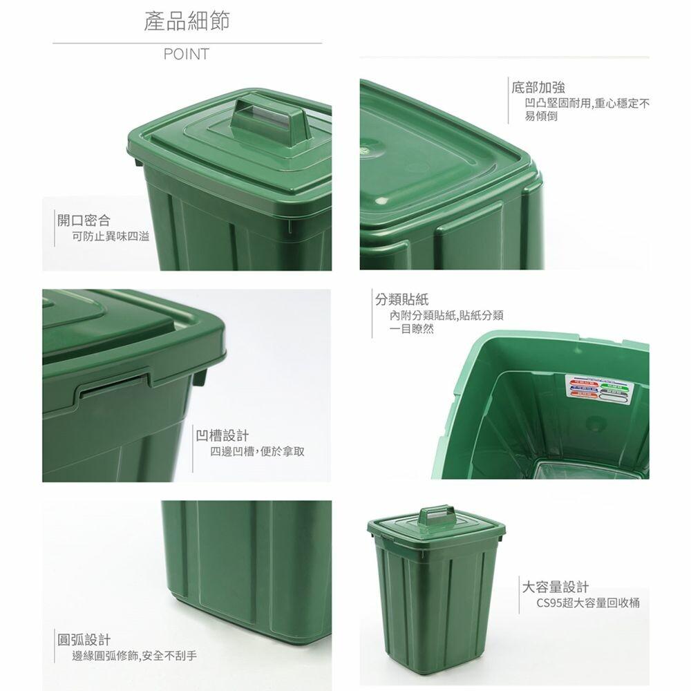 聯府 中方型26L資源回收筒 CS26