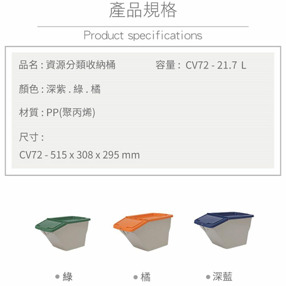 聯府 大資源分類收納筒 CV72