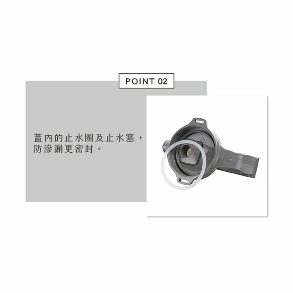 聯府 太空站吸管水壺0.6L ES-600