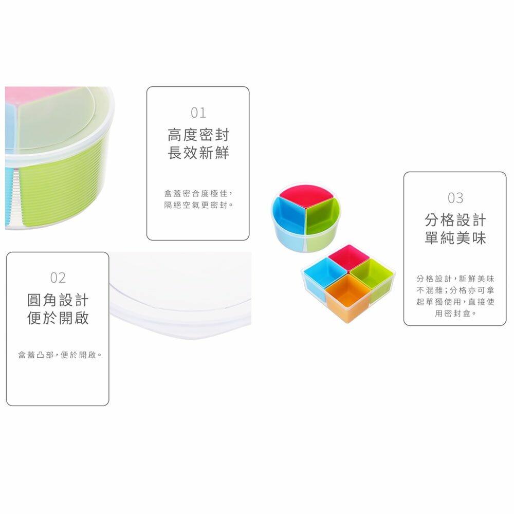聯府 巧麗分格密封盒:圓型3格/方型4格