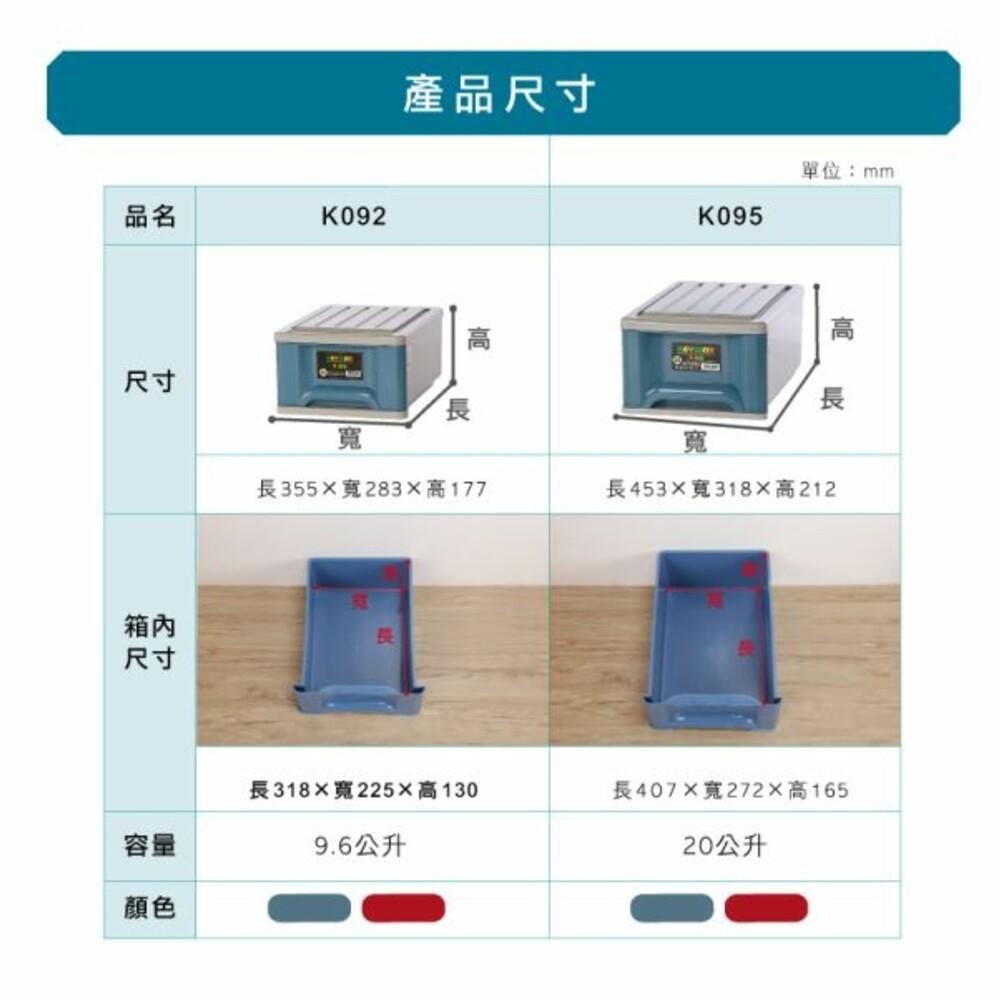 MIT K系列K092抽屜整理箱9.6L 單抽