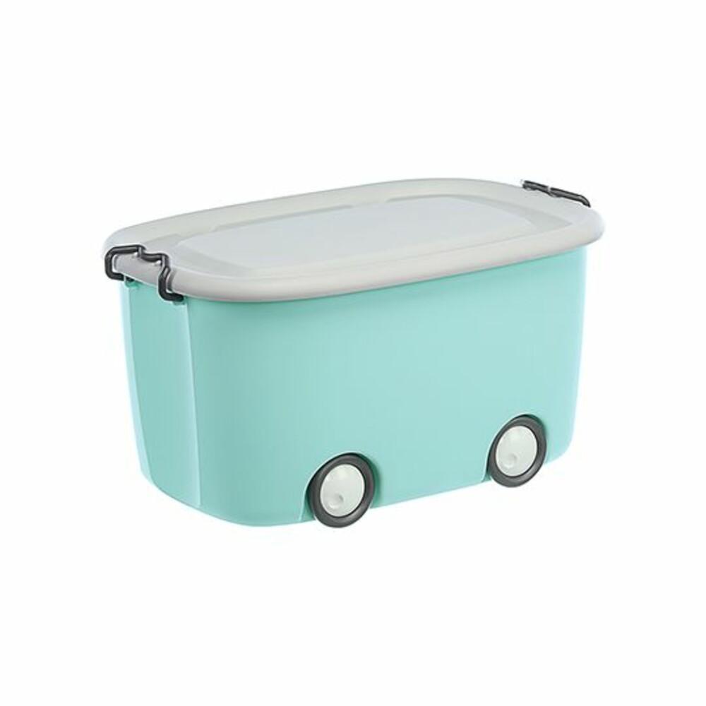 MIT 大寶扣環式滑輪整理箱45.5L 邊角作無銳角設計 兒童玩具收納