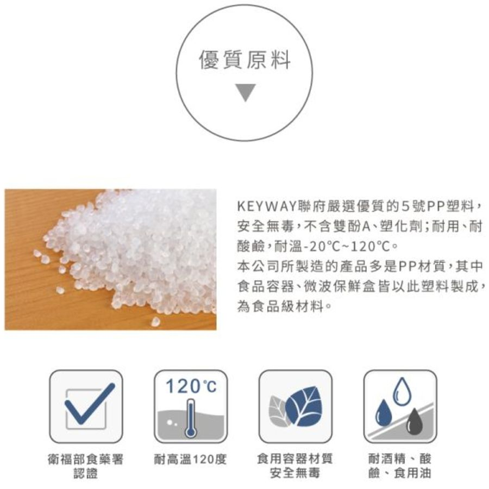 聯府 天廚方型保鮮盒 KIS-1100