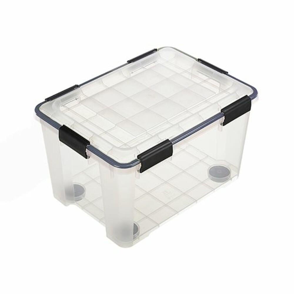 KEYWAY Fine透明防潮整理箱20L附輪 收納箱