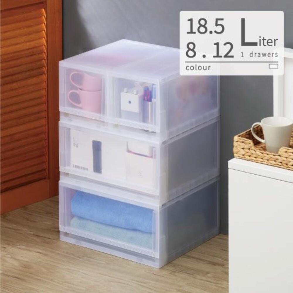 KEYWAY-LF00-MIT 無印風透明抽屜整理箱 收納箱:8L/9L/12L/18.5L/21L/30L/32L/43L