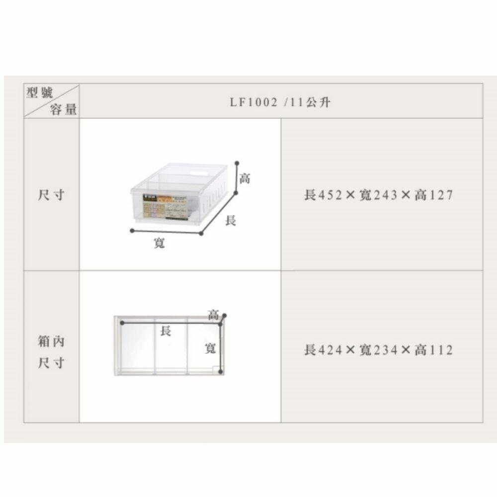 聯府 Fine隔板整理盒 LF1002