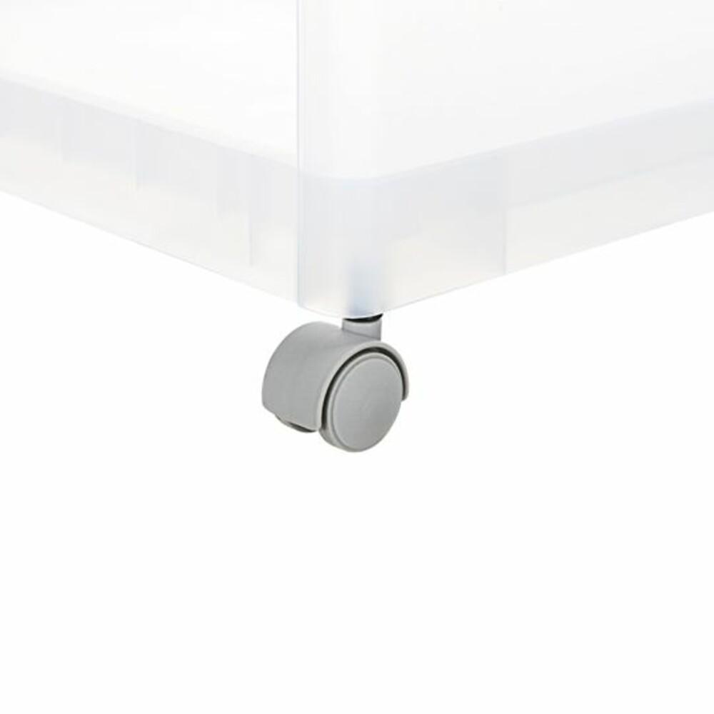 Fine透明四層滑輪收納架LF-1604