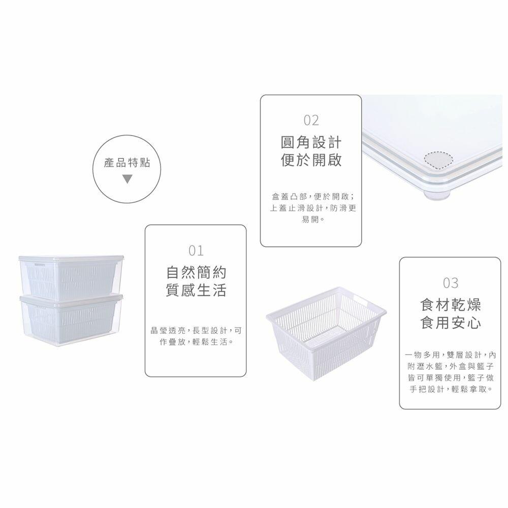 聯府 名廚2號瀝水保鮮盒 LM02