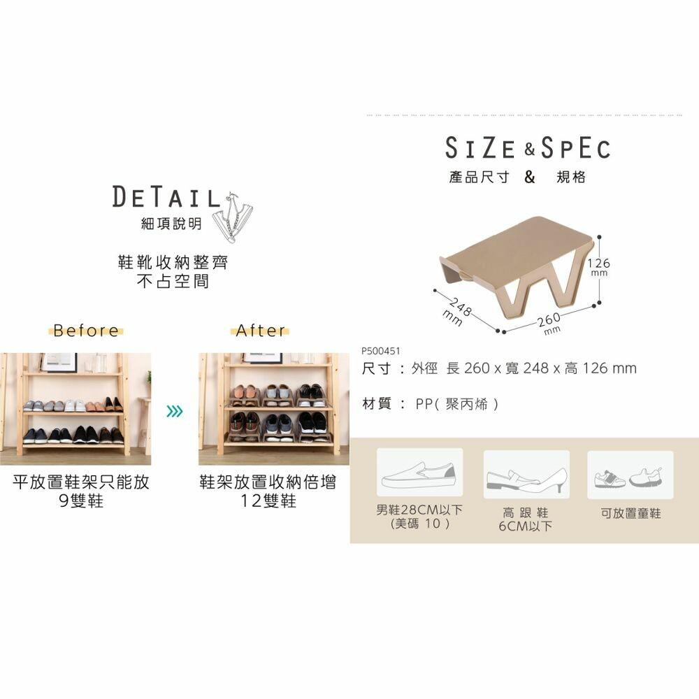 聯府 大阪城鞋架(1入) P500451