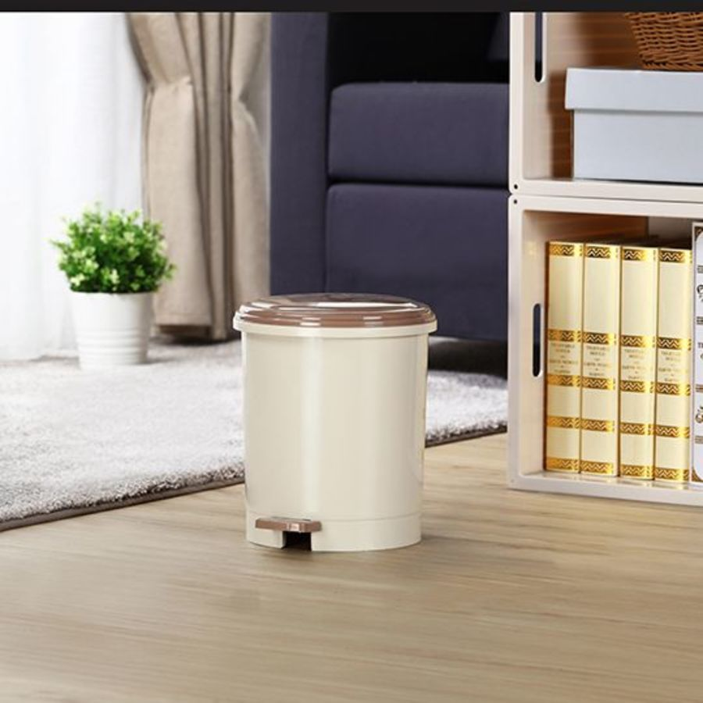 KEYWAY-RO005-聯府 朝代圓型4.5L垃圾桶 RO005