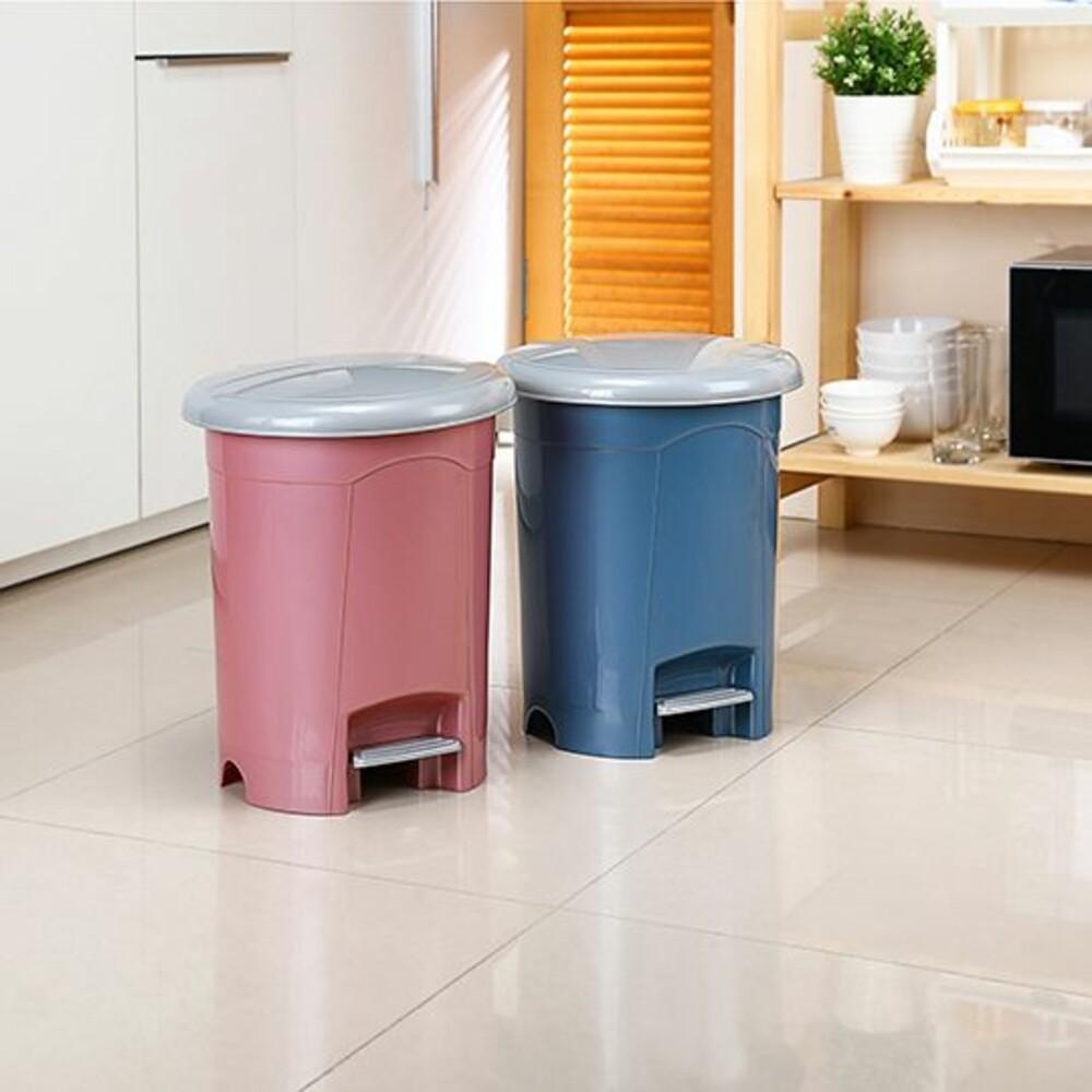 KEYWAY-RO010-聯府 朝代圓型10L垃圾桶 RO010