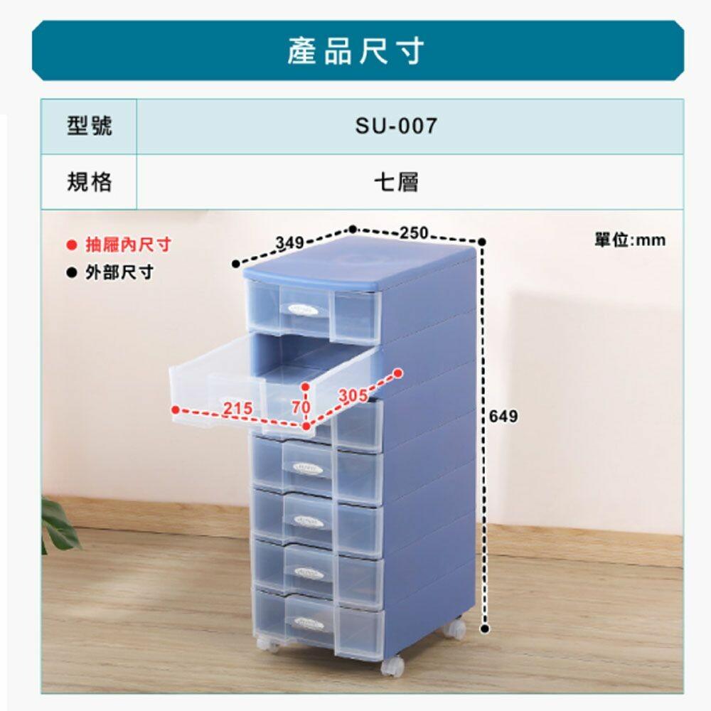 聯府 秘書三層資料櫃 SU003