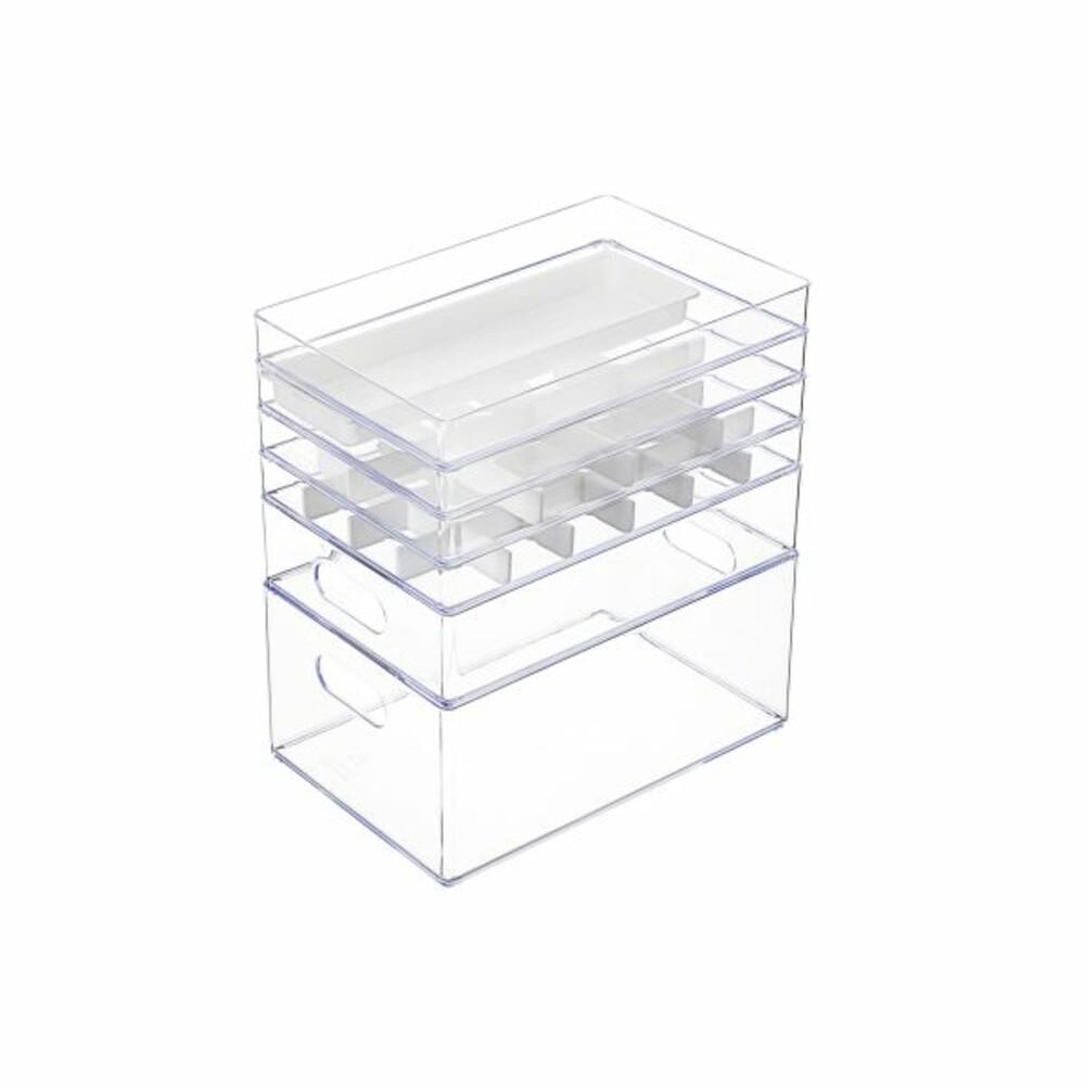 KEYWAY 安納4號收納盒(2格)TLV-604 透明小物收納