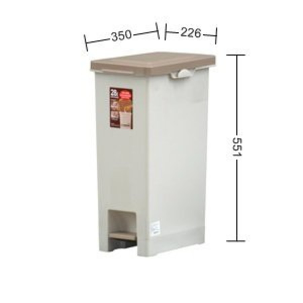 聯府 長島28L踏式垃圾桶 VO028