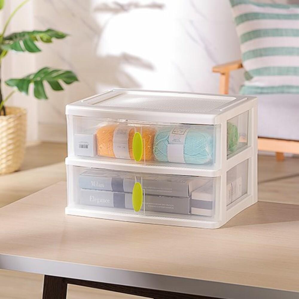 KEYWAY-W2-聯府 清淨居家收納盒2格 W2