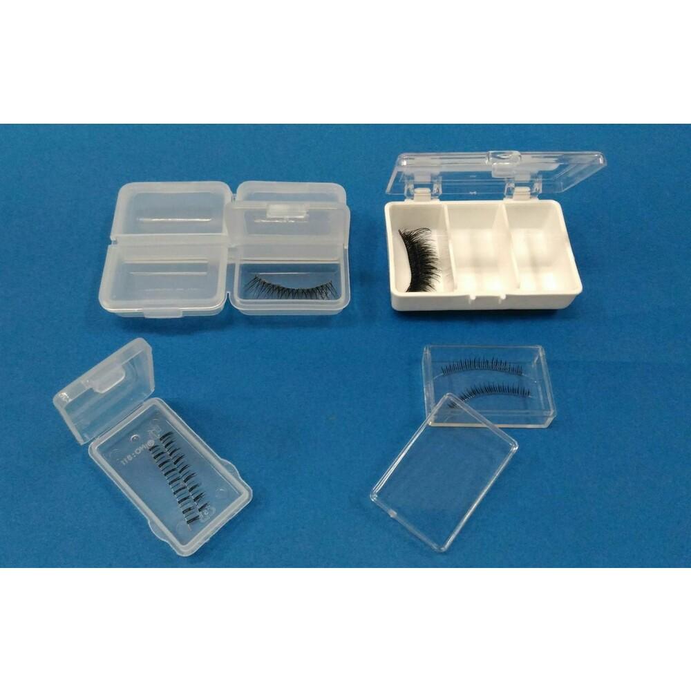 迷你收納盒 K-809 小集合4格  假睫毛收納盒