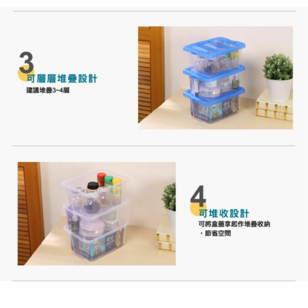 KEYWAY 海洋藍收納盒:4L(5入)/6L(4入)/9L(3入)14L(2入) 玩具收納 小物整理盒