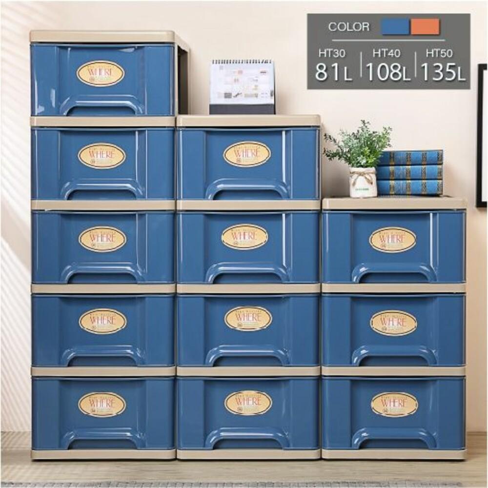 Keyway-HT-50-HT-50都會藍附輪五層櫃135L