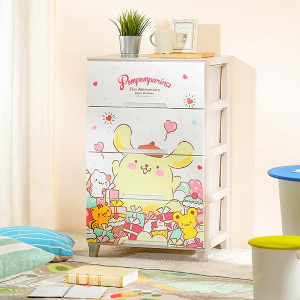 Keyway-UPN00181-KEYWAY 布丁狗寬型四層置物櫃120L-禮物  兒童收納櫃  免運