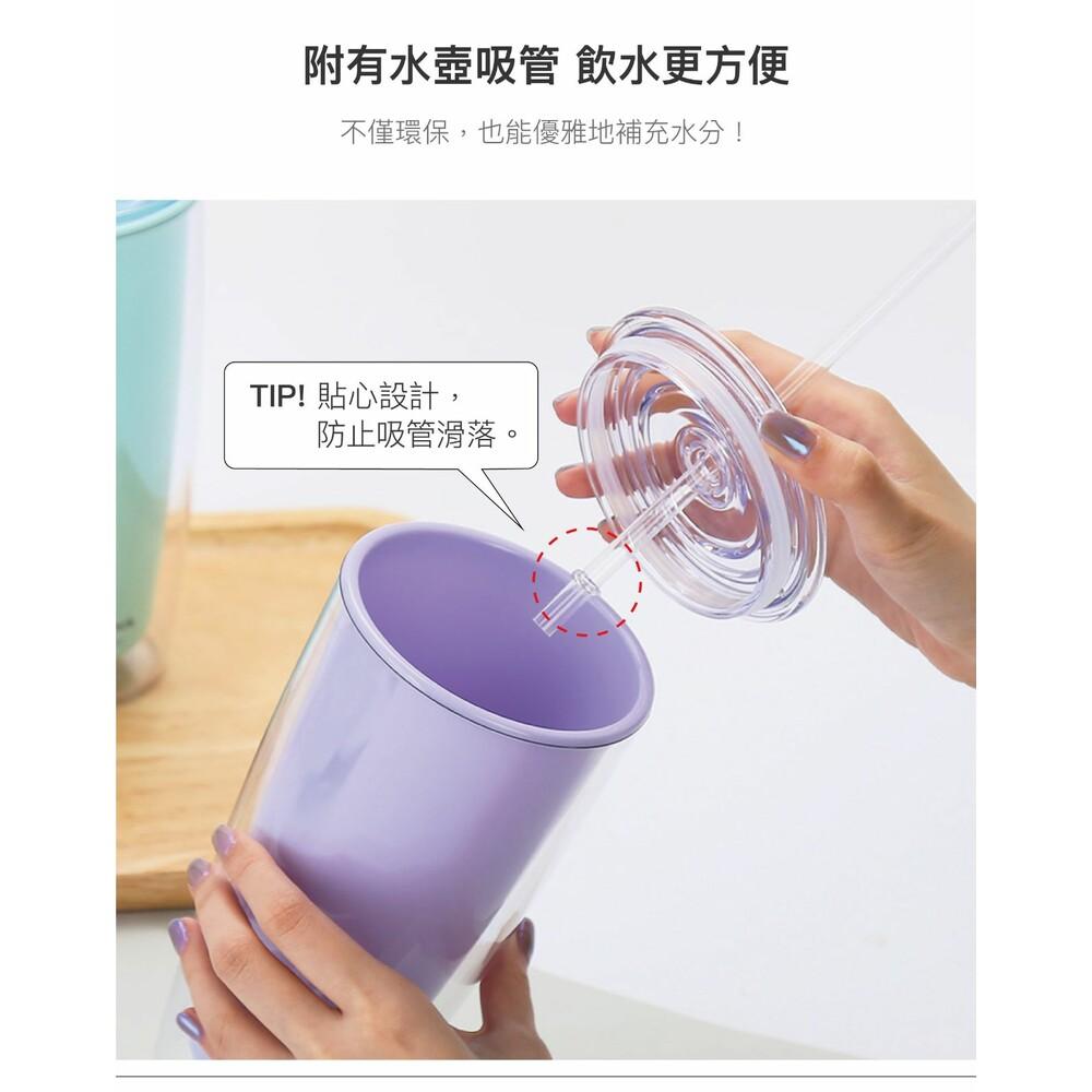 樂扣樂扣  簡約雙層輕量大容量吸管杯750ml (HAP507)  網美風