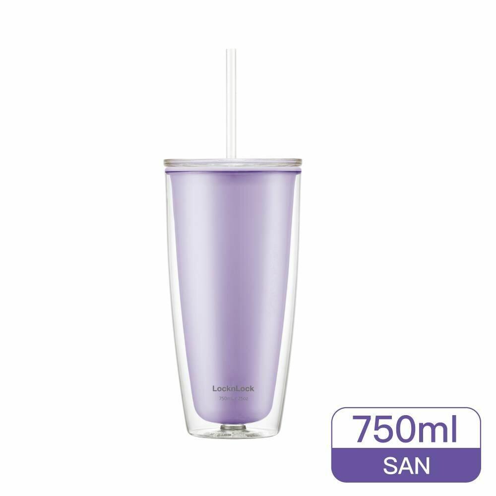 樂扣樂扣  簡約雙層輕量大容量吸管杯750ml (HAP507)  網美風 封面照片