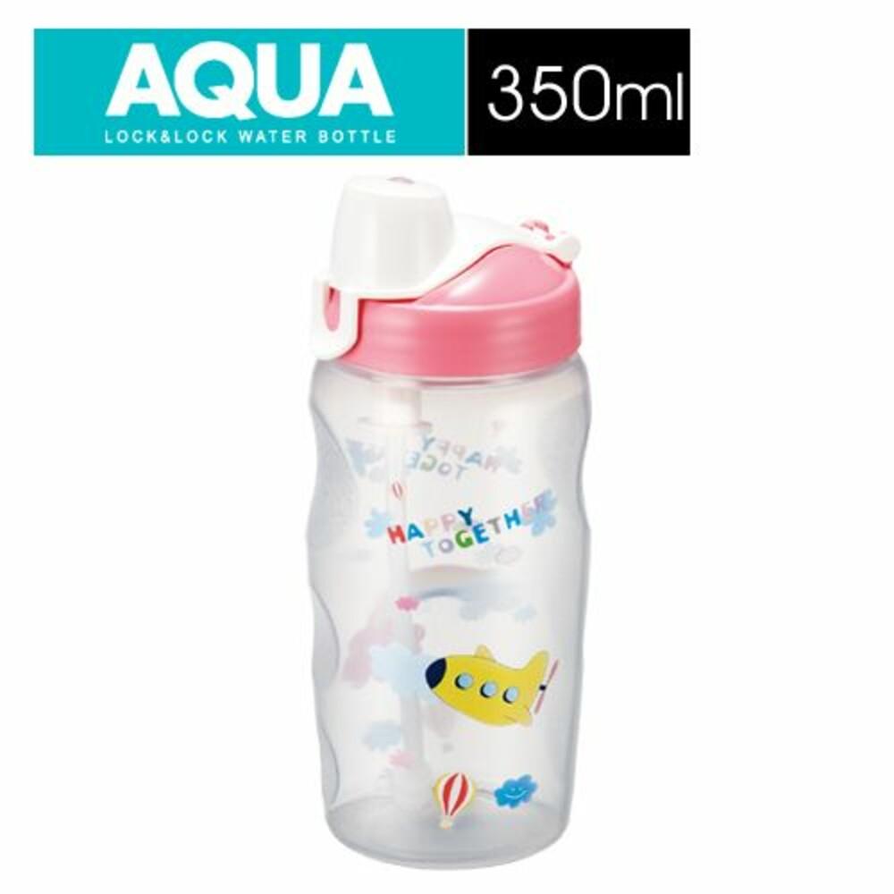 LOCK-HPP726TP-樂扣樂扣兒童彩繪水壺/350ML/粉紅色/附吸管(HPP726TP)