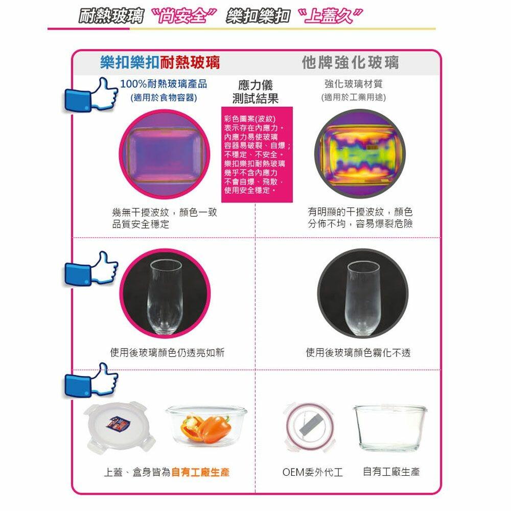 樂扣樂扣第三代耐熱玻璃保鮮盒/正方形/300ml(LLG203)
