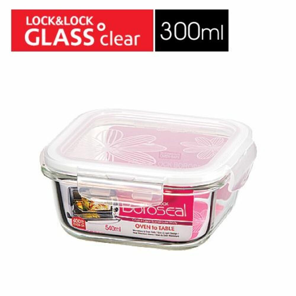 LOCK-LLG203-樂扣樂扣第三代耐熱玻璃保鮮盒/正方形/300ml(LLG203)