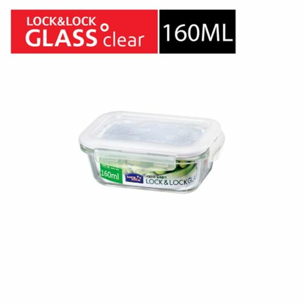 LOCK-LLG414-樂扣樂扣第二代耐熱玻璃保鮮盒/長方形/160ml(LLG414)