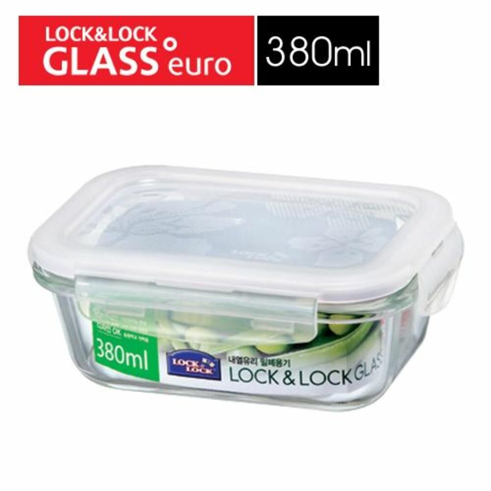 LOCK-LLG422 - 樂扣樂扣第二代耐熱玻璃保鮮盒/長方形/380ml(LLG422)