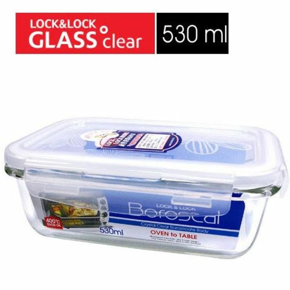 LOCK-LLG426-樂扣樂扣第三代耐熱玻璃保鮮盒/長方形/530ml(LLG426)