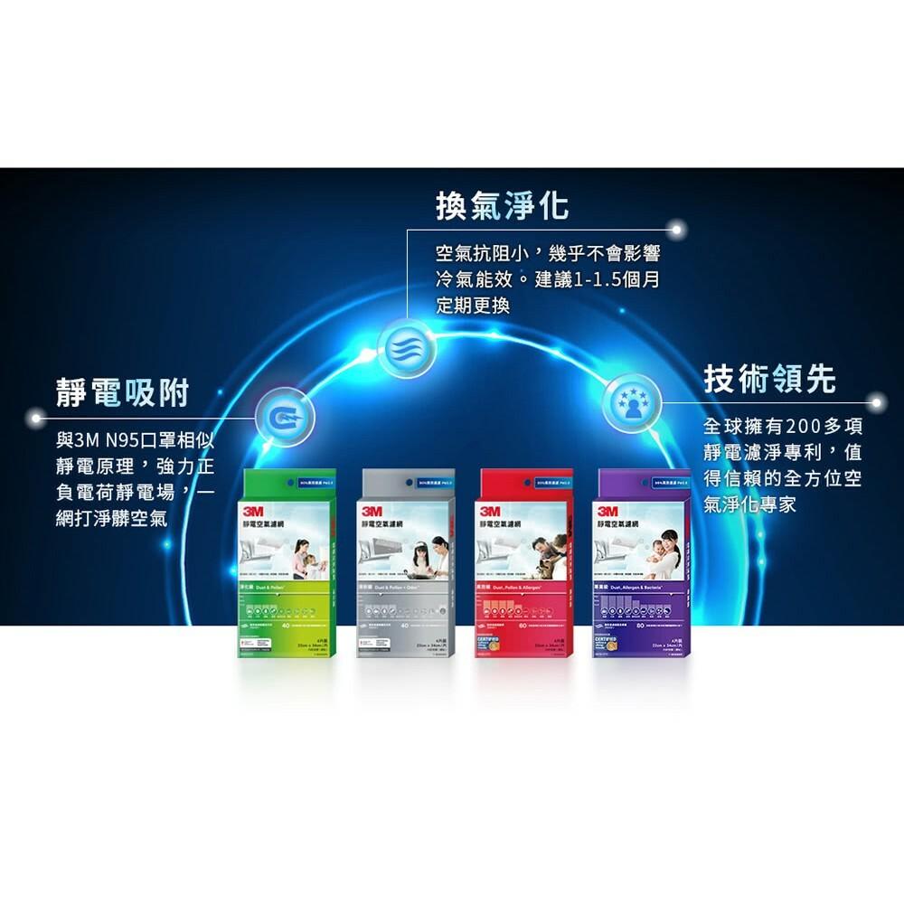 3M 有效過濾PM2.5靜電空氣濾網 冷氣靜電濾網:專業級/高效級/清新級/淨化級