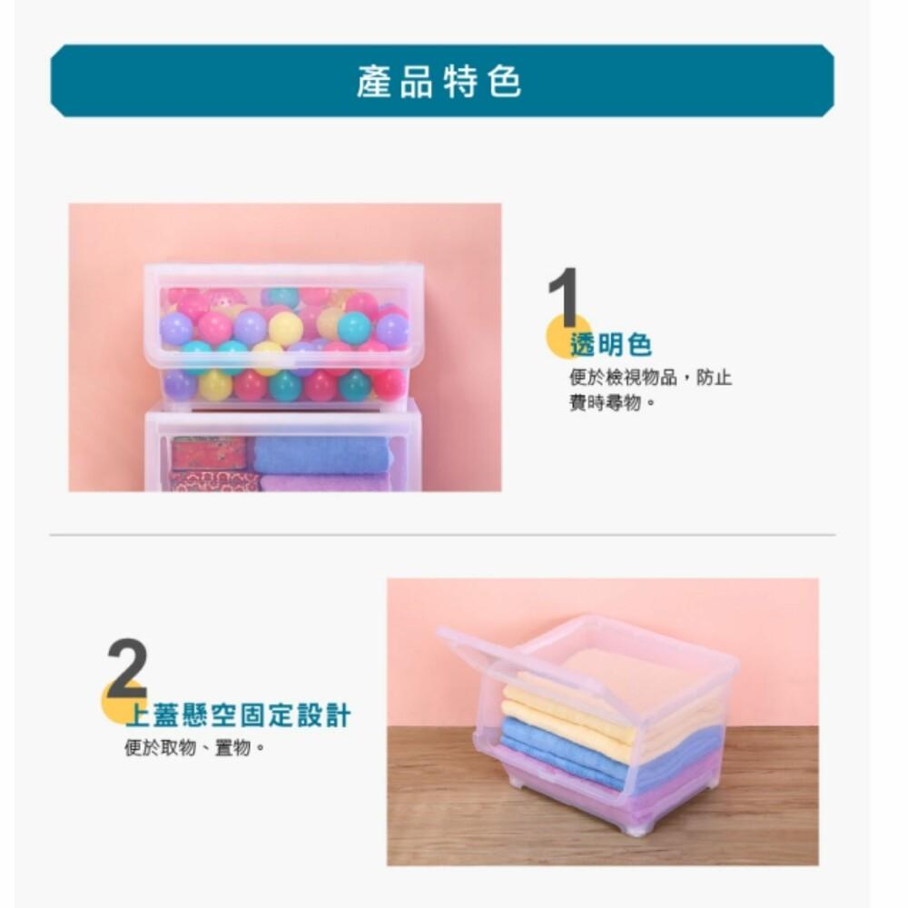 聯府 透明直取式收納箱(50L)