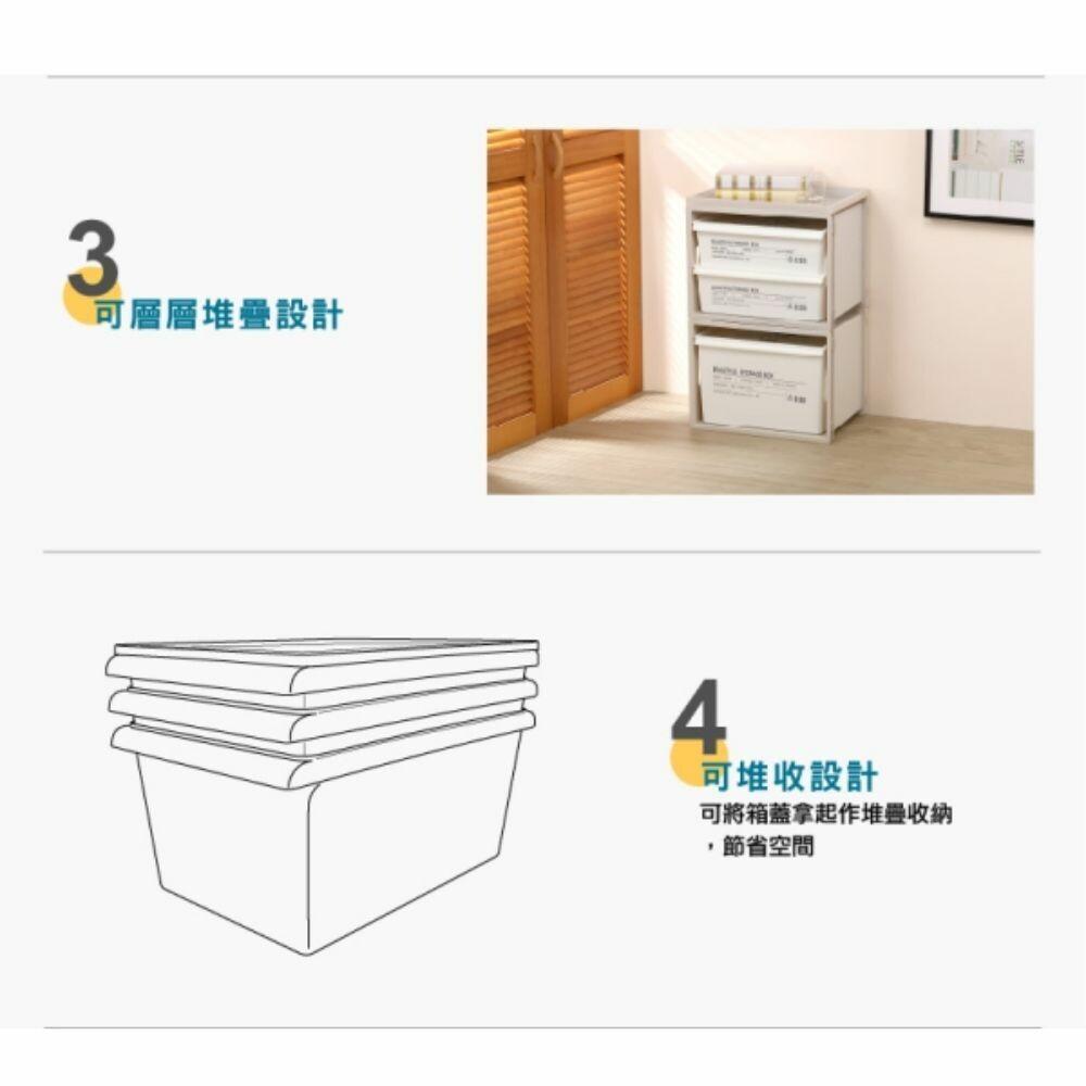 KEYWAY 工業風SPP-00003收納盒附蓋24L