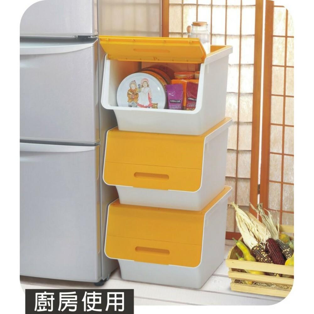 聯府 鄉村直取式整理箱(附輪)40L