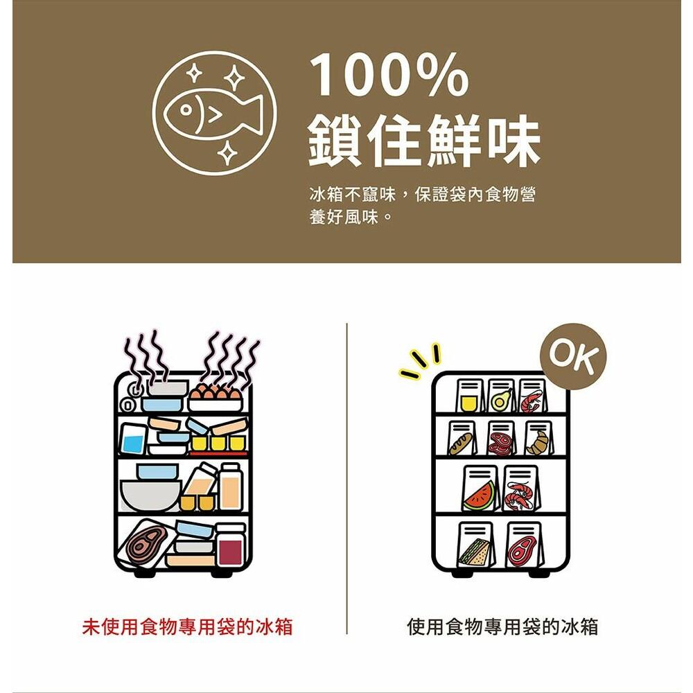 USii高效鎖鮮食物專用袋-立體夾鏈袋